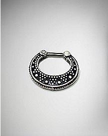 Ornate Septum Nose Ring - 14 Gauge