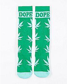 Dope Leaf Crew Socks