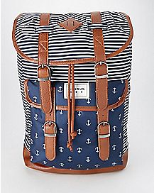 BENRUS Stripe Navy Anchor Scout Backpack
