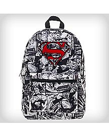 Superman Black and White Comic Backpack
