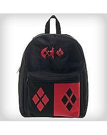 Hooded Harley Quinn Batman Backpack