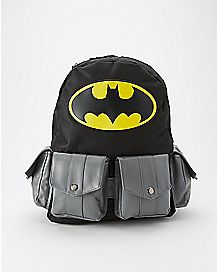 Hooded Multipocket Batman Backpack