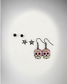 Star & Skull Earrings 3 Pack