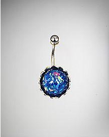 14 Gauge Blue Round Belly Ring