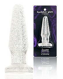 Hott Love Extreme Clear Glitter Love Plug - 4.8 Inch
