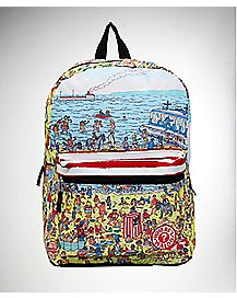 Top Zip Where's Waldo Backpack
