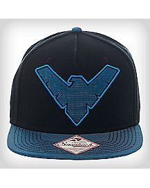 Embroidered Nightwing Logo Snapback Hat