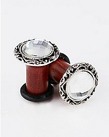 Wood Cubic Zirconia Plug 2 Pack