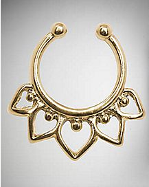 14 Gauge Filigree Fake Septum Ring