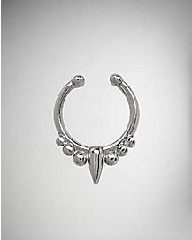 Fake Ball With Spike Septum Nose Ring