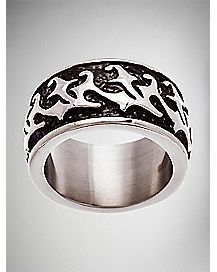 Black Texture Design Ring
