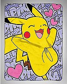 Pika Run Pikachu Fleece Blanket