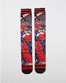 Sublimated Harley Quinn Knee High Socks