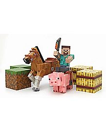 Minecraft Saddle Action Figures Pack