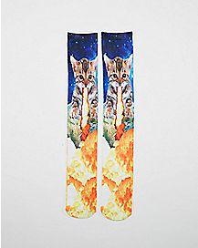 Sublimated Armageddon Cat Knee High Socks