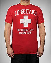 Lifeguard Just Kidding Tee