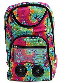 Selfie Remote w/ Tie Dye Swirl Audio Backpack