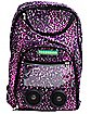 Light Pink Leopard Audio Backpack w/ Selfie Remote