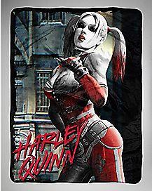 Harley Quinn Arkham Fleece Blanket