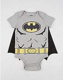 Batman Logo Caped Baby Bodysuit - DC Comics