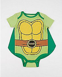 Caped Baby Bodysuit - TMNT