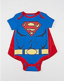 Superman Caped Baby Bodysuit - DC Comics