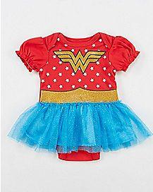Wonder Woman Ruffle Skirt Baby Dress