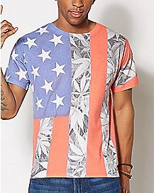 USA Pot Leaf Sublimation T Shirt