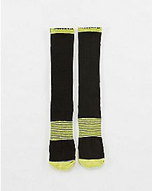 Compression Crew Batman Socks Neon Yellow