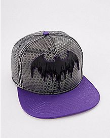 Batman Grey and Purple Snapback Hat - DC Comics