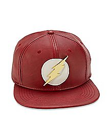 Faux Leather The Flash Snapback Hat