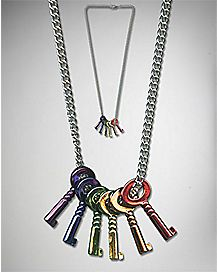 Rainbow Keys Pride Necklace