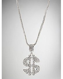 Bling Dollar Sign Necklace