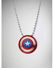 Avengers Captain America Shield Necklace