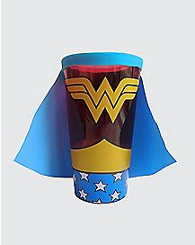 Caped Wonder Woman Pint Glass 16 oz