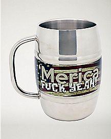 'Merica Fuck Yeah Beer Mug 32 oz