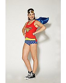 Caped Wonder Woman Tank Pajama Set