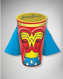 Caped Wonder Woman Pint Glass 16 oz Ceramic