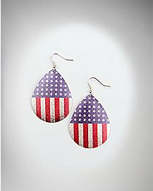 Flag Dome Dangle Earrings