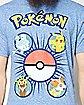 Pokeball Pokemon Party T shirt