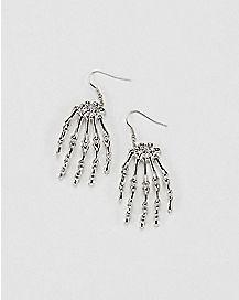 Skeleton Hands Dangle Earrings