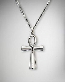 Ankh Cross Charm Necklace