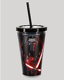 Kylo Ren Star Wars Cup with Straw 16 oz