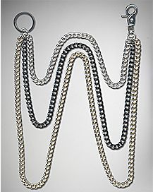 Tricolored Wallet Chain