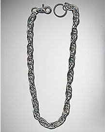 Twisted Silver Wallet Chain
