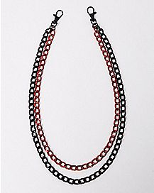 Red and Black Wallet Chain