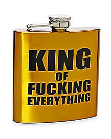 King Of Fucking Everything Flask 6 oz