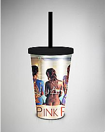 Backs Pink Floyd Cup with Straw