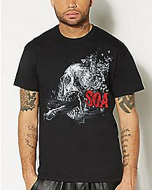 Skull Smash Mens Sons of Anarchy T shirt