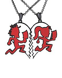 Insane Clown Posse Girl Guy Necklace 2 Pack